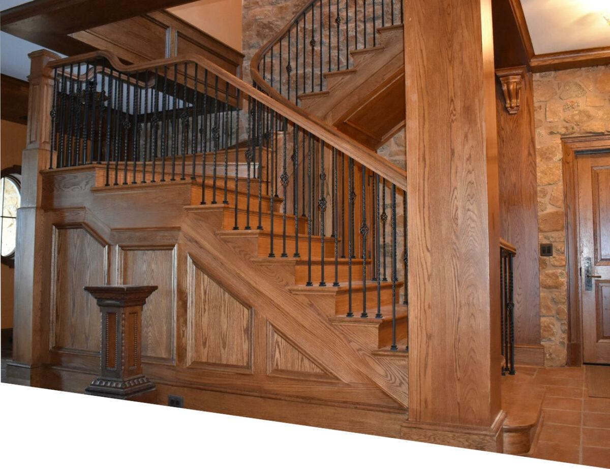 Un escalier tout en bois de chêne posé à Montauban