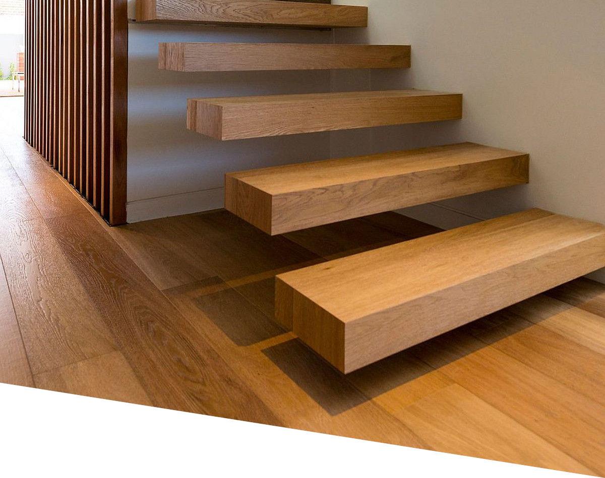 Escalier et parquet massif en chêne